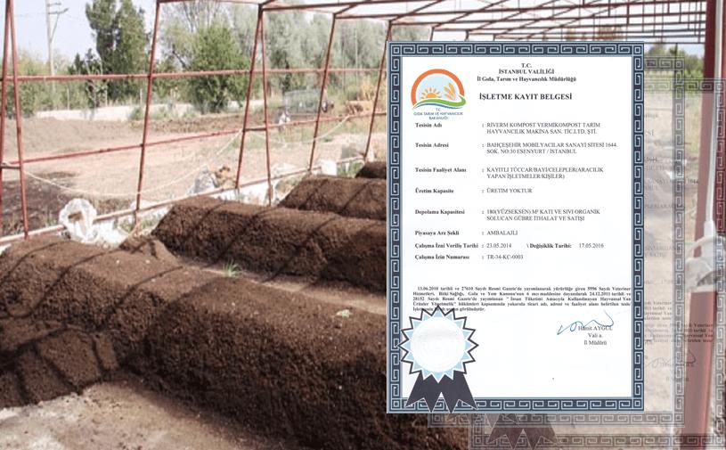 Solucan Gübresi Üretim Sertifikası