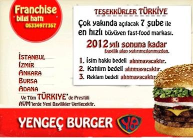 Yengeç Burger Franchise ve Bayilik Başvurusu