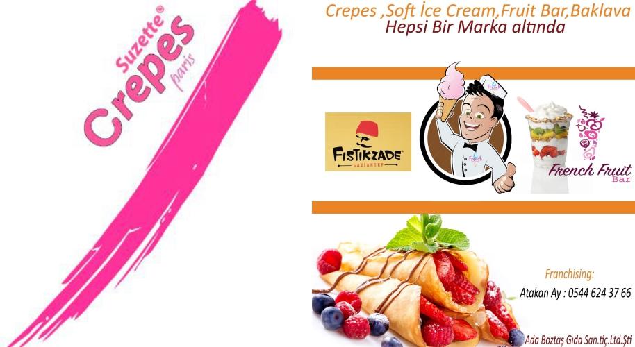 Crepes Suzette Paris Krep ve Waffle Bayiliği Veriyor